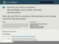 How Do You Find a Common Denominator and a Least Common Denominator? Video