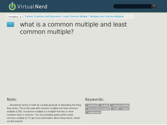 What is a Common Multiple and Least Common Multiple? Video