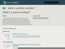 What's a Prime Number? Video