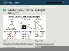 What are Acute, Obtuse, and Right Triangles? Video