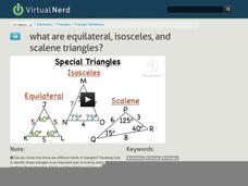 What are Equilateral, Isosceles, and Scalene Triangles? Video