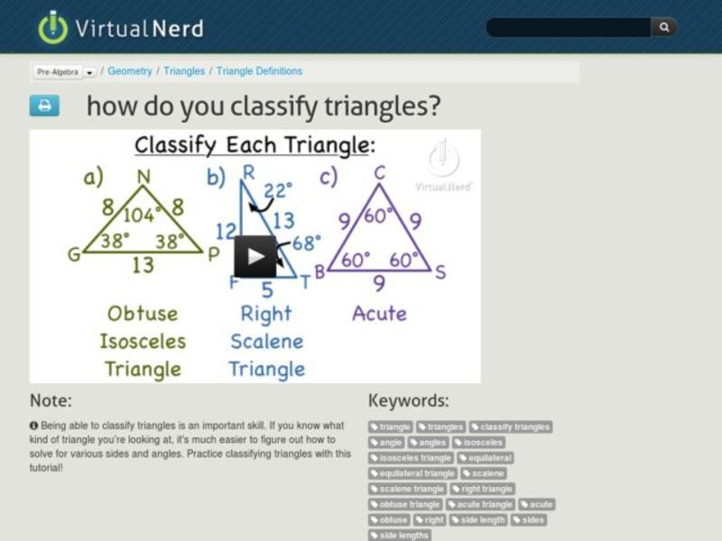 How Do You Classify Triangles? Video