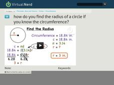 How Do You Find the Radius of a Circle if You Know the Circumference? Video