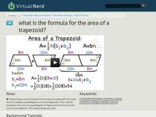 What is the Formula for the Area of a Trapezoid? Video