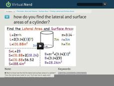 How Do You Find the Lateral and Surface Areas of a Cylinder? Video