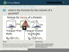What is the Formula for the Volume of a Pyramid? Video