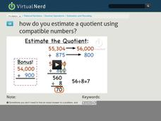 How Do You Estimate a Quotient Using Compatible Numbers? Video