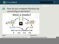 How Do You Compare Fractions by Converting to Decimals? Video