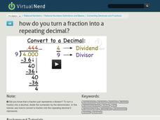 How Do You Turn a Fraction Into a Repeating Decimal? Video