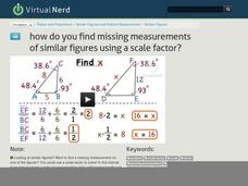 How Do You Find Missing Measurements of Similar Figures Using a Scale Factor? Video