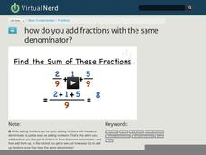 How Do You Add Fractions with the Same Denominator? Video