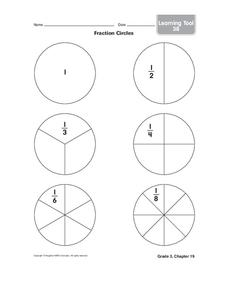 Fraction Circles Graphic Organizer