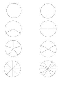image relating to Fraction Circles Printable identify Portion Circles Printables Template for 2nd - 5th Quality