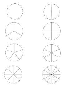 Fraction Clipart Circles | Clip art, Fractions, Art set