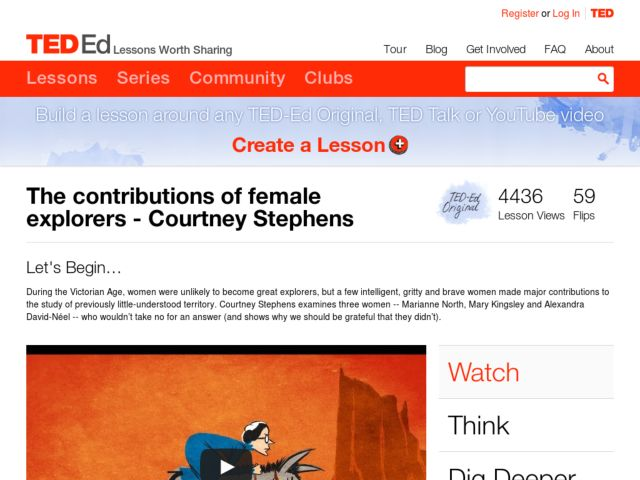 The Contributions of Female Explorers Video