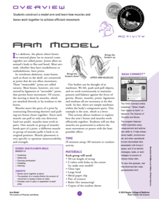 Arm Model Lesson Plan