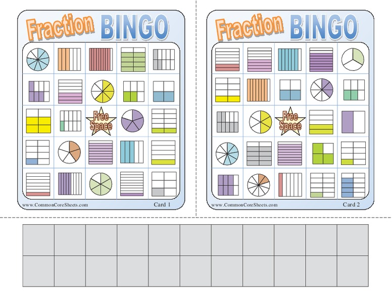 photograph relating to Fraction Bingo Printable named Portion Bingo Understanding Recreation for 3rd - 6th Quality Lesson Globe