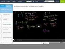 More Advanced Ratio Problem-- with Algebra (HD version) Video
