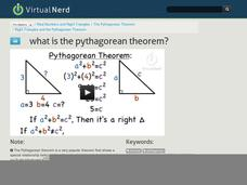 What is the Pythagorean Theorem? Video