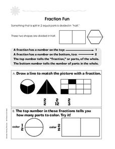 Fraction Fun Worksheet