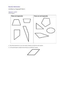 What is a Trapezoid? (Part 1) Lesson Plan