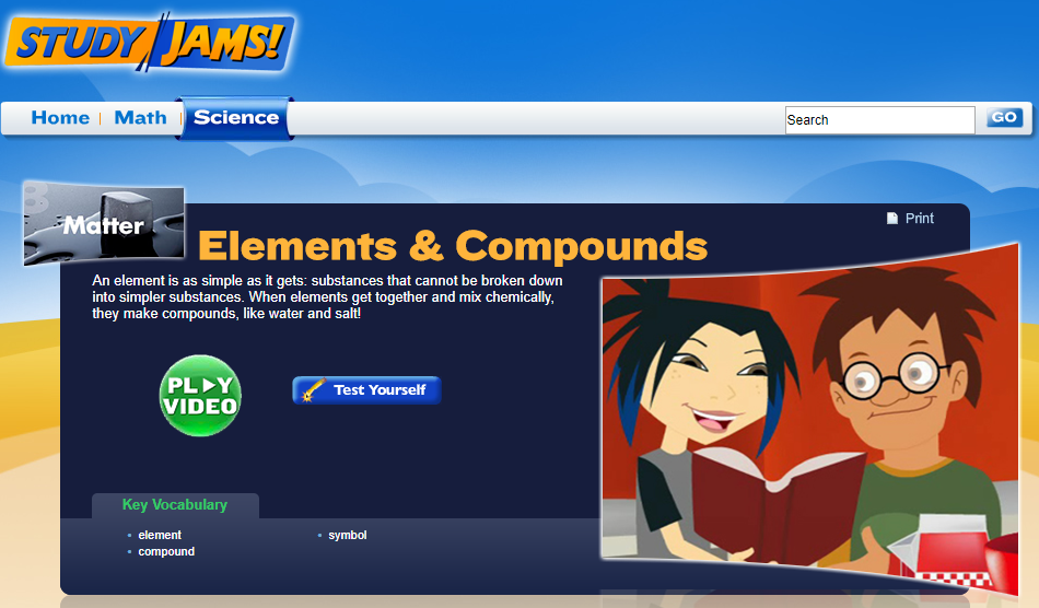 Study Jams! Elements & Compounds Interactive