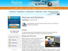 Mixtures and Solutions Activities & Project