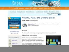 Volume, Mass, and Density Boxes Lesson Plan