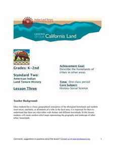 More Tribal Homelands Lesson Plan