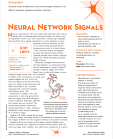 Neural Network Signals Activities & Project
