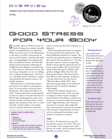 Good Stress for Your Body Lesson Plan