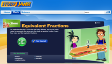 Study Jams! Equivalent Fractions Interactive
