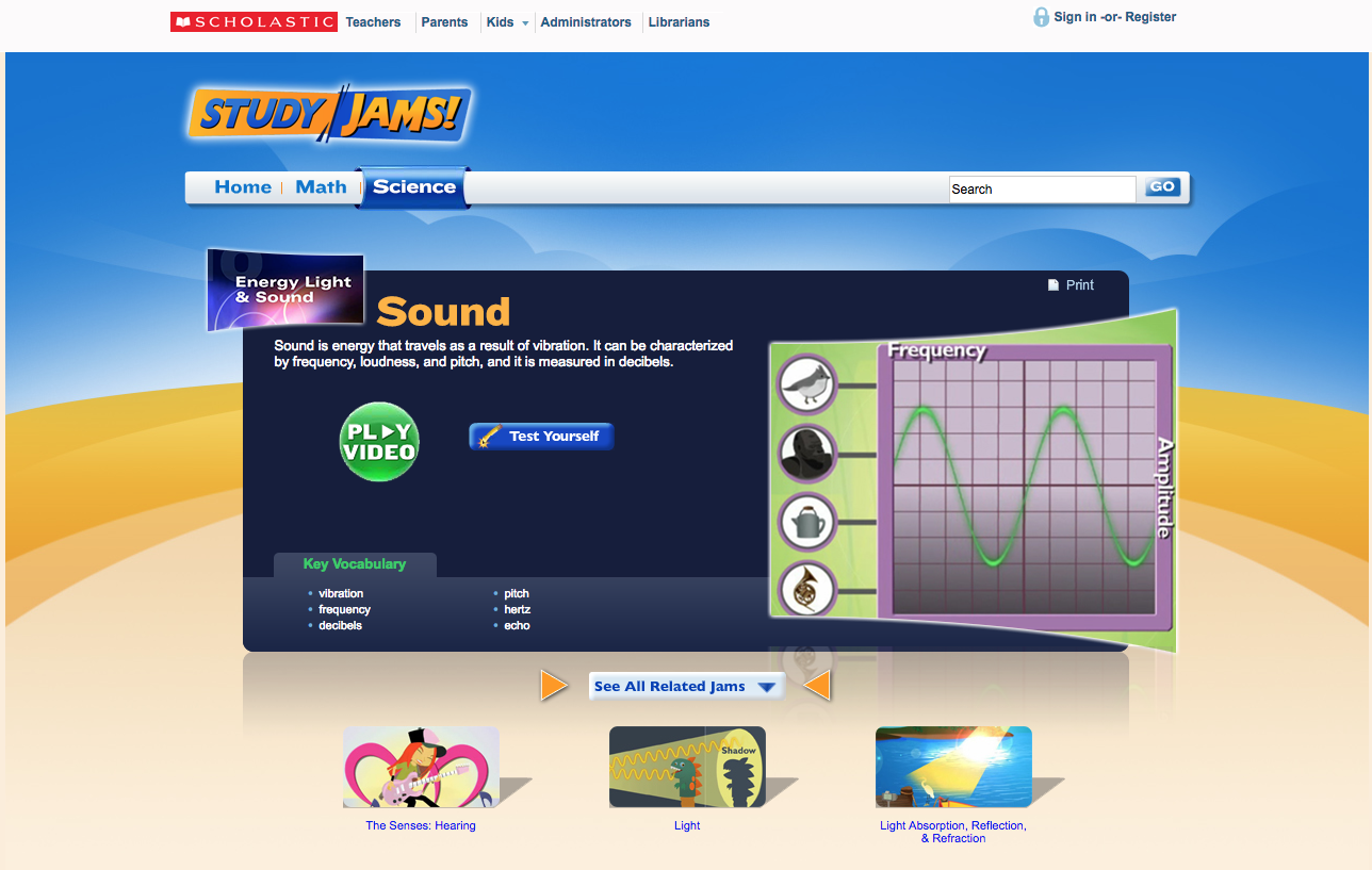 Study Jams! Sound Interactive for 4th - 8th Grade | Lesson ...