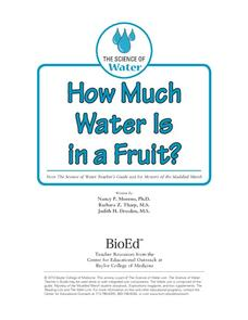 How Much Water Is in a Fruit? Activities & Project