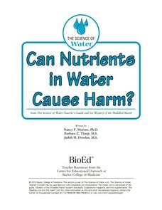 Can Nutrients in Water Cause Harm? Lesson Plan