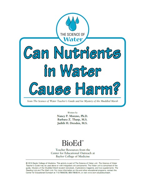 Can Nutrients in Water Cause Harm? Activities & Project