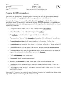 Animal Cell Construction Activities & Project