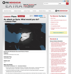 An Attack on Syria- What Would You Do? Lesson Plan