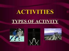 Types of Activities Presentation