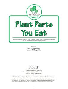 Plant Parts You Eat Lesson Plan
