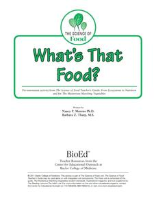 What's That Food? Lesson Plan