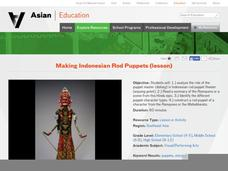 Making Indonesian Rod Puppets Lesson Plan