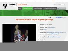 Terracotta Warrior Finger Puppets Activities & Project