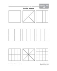 Fraction Squares Worksheet