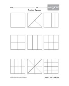 Fraction Squares Lesson Plan