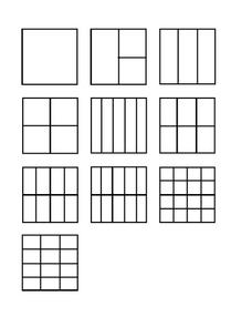 Fraction Squares Printables & Template