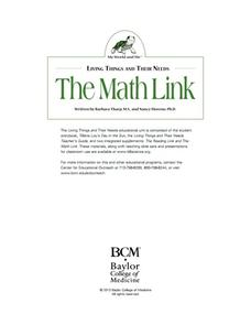 Living Things and Their Needs: The Math Link Lesson Plan