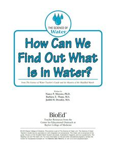 How Can We Find Out What Is in Water? Lesson Plan