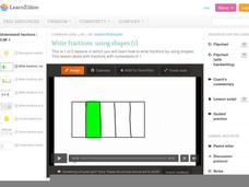 Write Fractions: Using Shapes (1) Video