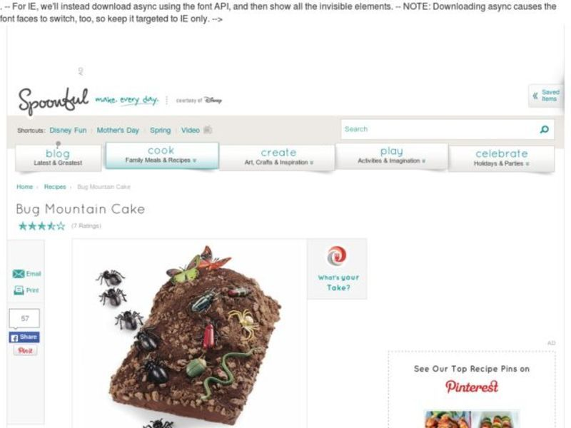 Bug Mountain Cake Activities & Project